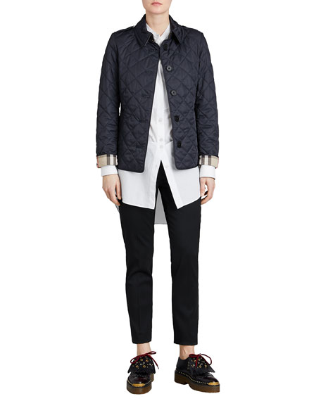 Burberry Frankby Quilted Jacket, Navy : quilted jacket navy - Adamdwight.com