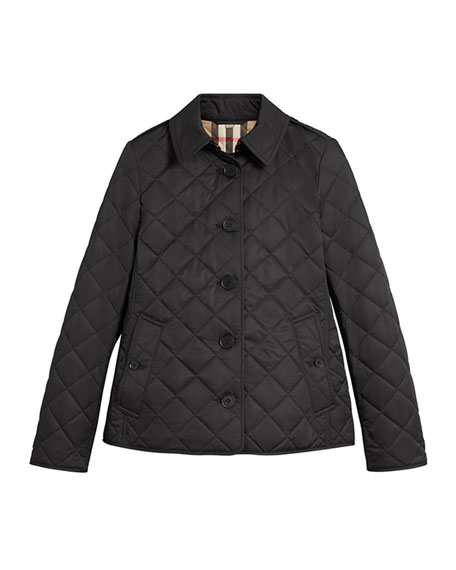 Burberry Frankby Quilted Jacket, Black