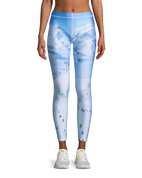 Terez Ski-Trip Printed Ankle Performance Leggings