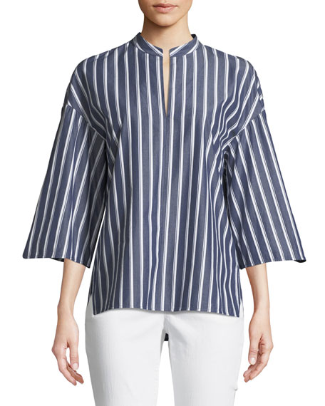 Lafayette 148 New York Carla Regal Stripes Blouse
