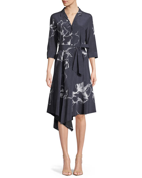 Lafayette 148 New York Casimir Desert Bloom Silk