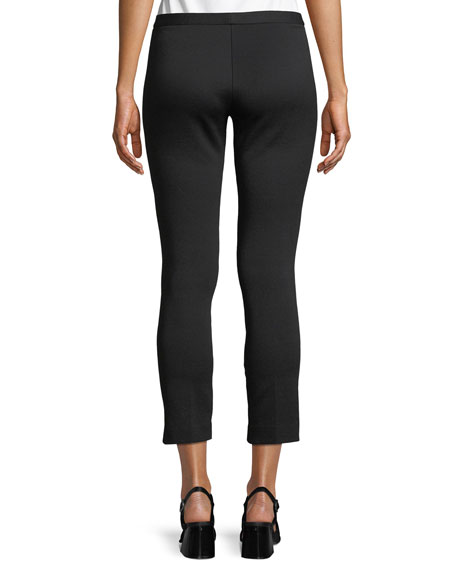 Summer Pique Classic Cropped Skinny Pants