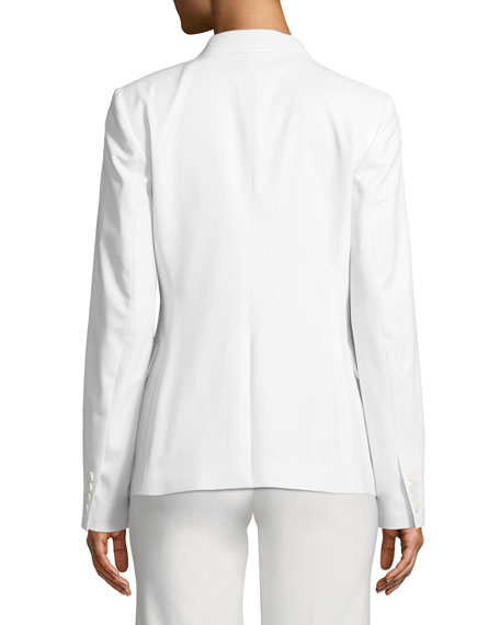 d53d21d2460 Theory Essential One-Button Polished Wool Jacket | Neiman Marcus