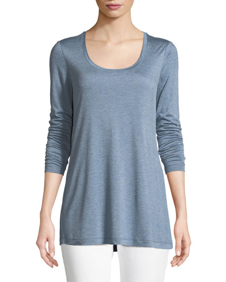 Lafayette 148 New York Hallie Featherweight Jersey Long-Sleeve