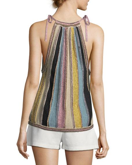 Vertical Striped Crochet Top