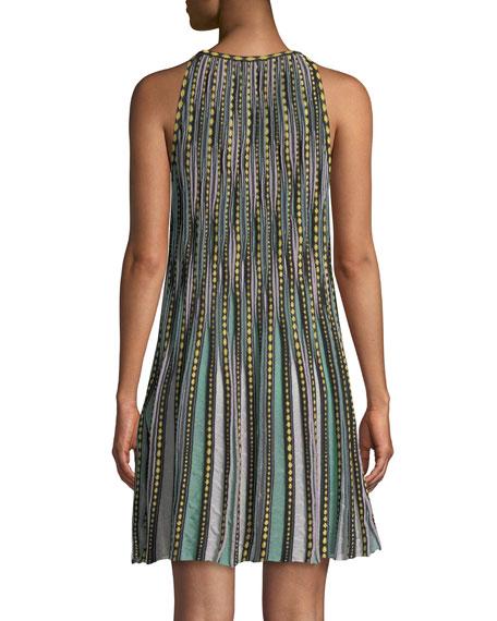 Bubble Knit Halter-Neck Dress