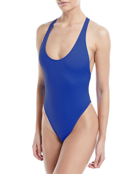 Milly Marini Scoop-Neck Maillot Solid One-Piece Swimsuit