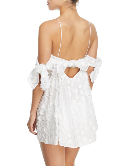 Hartli Floral-Embroidered Mini Coverup Dress