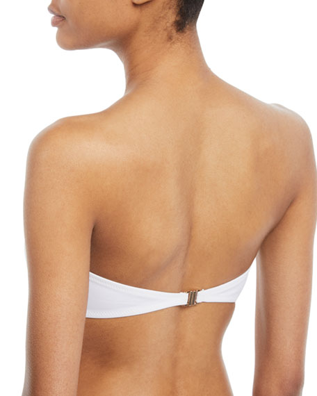Ari String-Detail Bandeau Swim Top