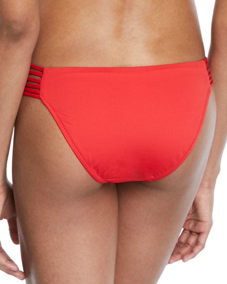String-Side Cheeky Bikini Swim Bottom