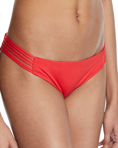 String-Side Cheeky Bikini Swim Bikini Bottom