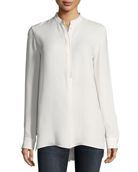 Lafayette 148 New York Polina Silk Georgette Blouse