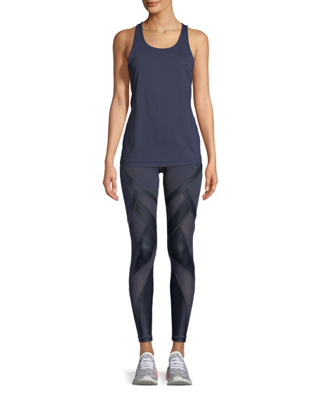 Allegiance Paneled Full-Length Leggings
