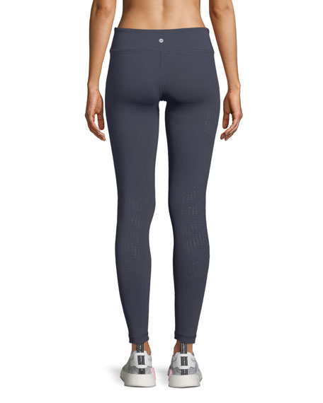 Drill Full-Length Leggings with Perforations