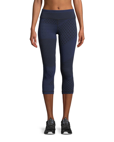 Core Crop Multi-Knit Performance Leggings