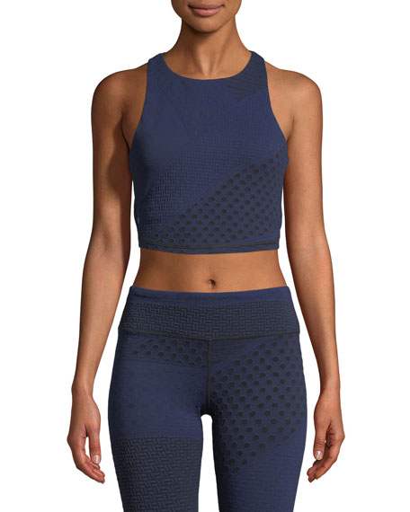 VIMMIA Gypsy Zip-Back Crop Top in Blue