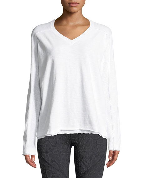 Renew V-Neck Thermal Top with Rib-Trim
