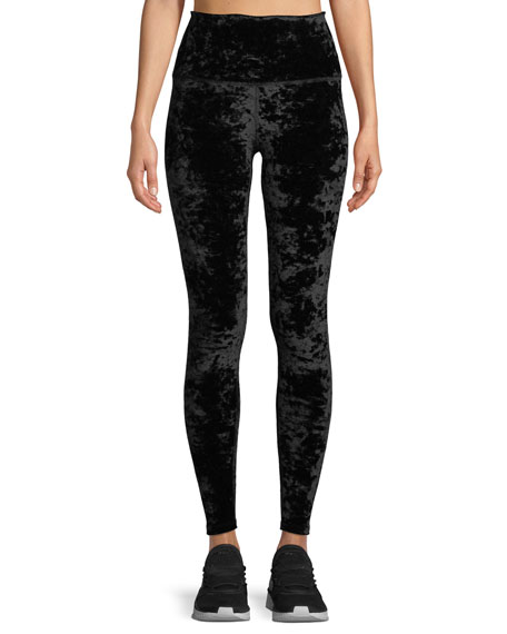 Beyond Yoga Crushed Velvet High-Rise Leggings
