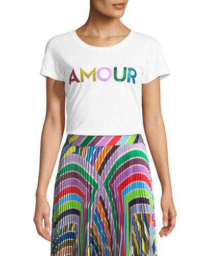Amour Scoop-Neck Graphic Tee