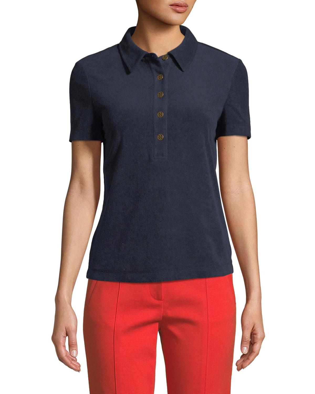 05d839115236 Tory Burch Lennox Terry Polo Shirt
