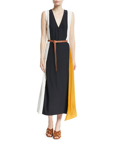 Clarice Colorblock Wrap Dress