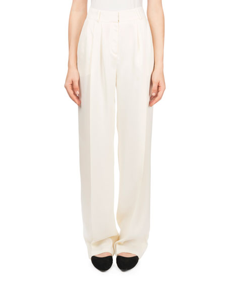 Caguas High-Waist Draped Trousers