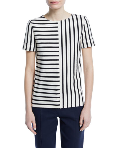 Harlie Striped Cotton Top