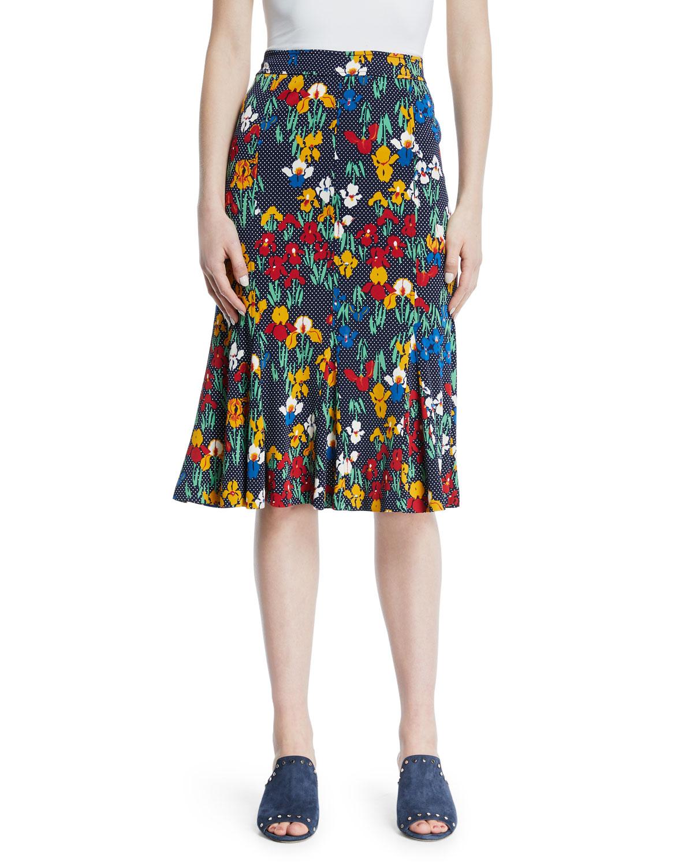 defdb1b6d059e Tory Burch Jada Floral-Print Jersey Skirt