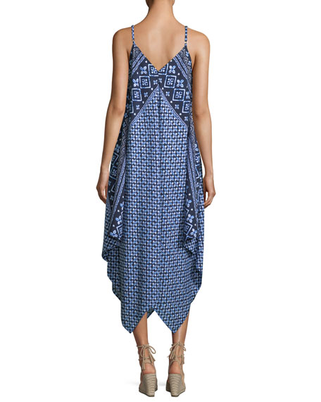 Engineered Printed Scarf Coverup Dress