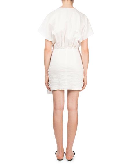 Durango V-Neck Cap-Sleeve Gathered Cocktail Dress