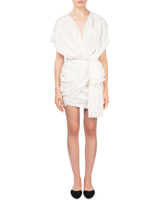 White Cap Sleeve Dress | Neiman Marcus