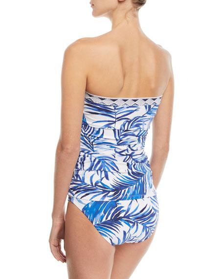 Underwire Printed Long Bandini Swim Top