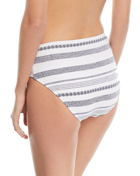 Wide-Band High-Waist Swim Bikini Bottom