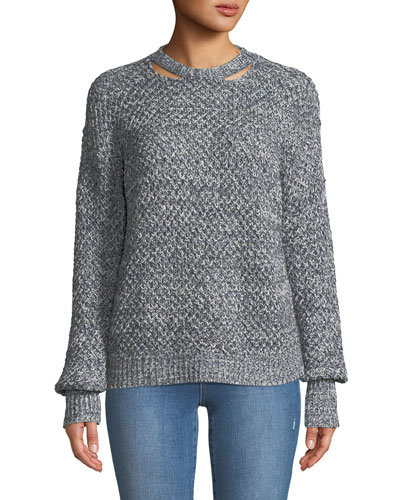 Delfina Cable-Knit Pullover Sweater