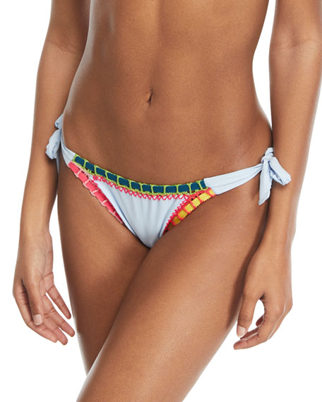 Platinum Inspired by Solange Ferrarini Crochet-Trim Side-Tie Swim