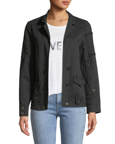 Vladimir Open-Front Cotton Grunge Jacket