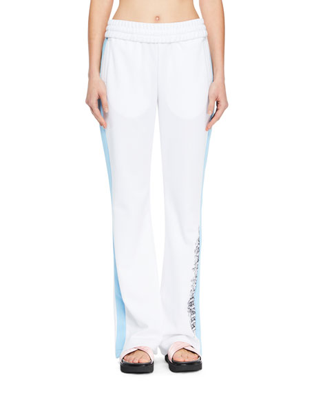 Wide-Leg Racer Track Pants