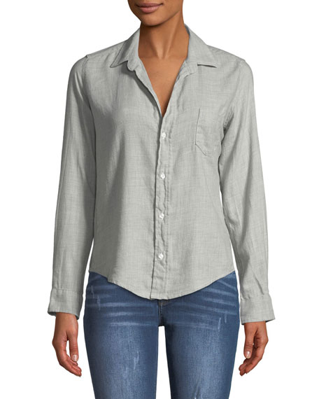 Frank & Eileen Barry Button-Front Long-Sleeve Cotton Shirt