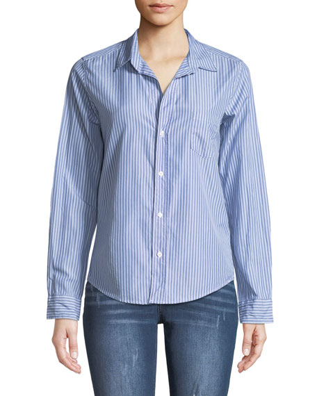 Frank & Eileen Barry Button-Front Long-Sleeve Striped Shirt