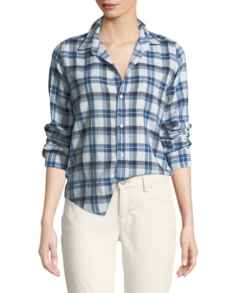 Frank & Eileen Barry Button-Front Check Cotton Shirt