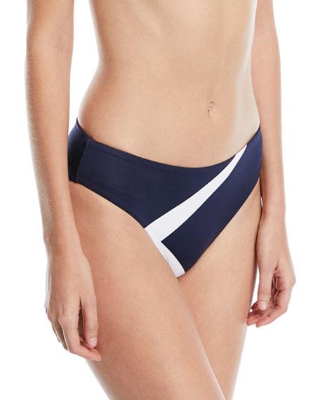 Mila Hipster Colorblocked Swim Bikini Bottoms