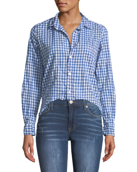 Frank & Eileen Barry Button-Front Gingham Cotton Shirt