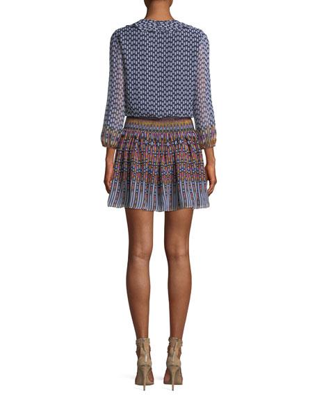 Blouson V-Neck Mini Dress