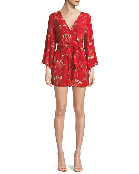 Kahn V Neck Floral Print Romper by Ba&Sh