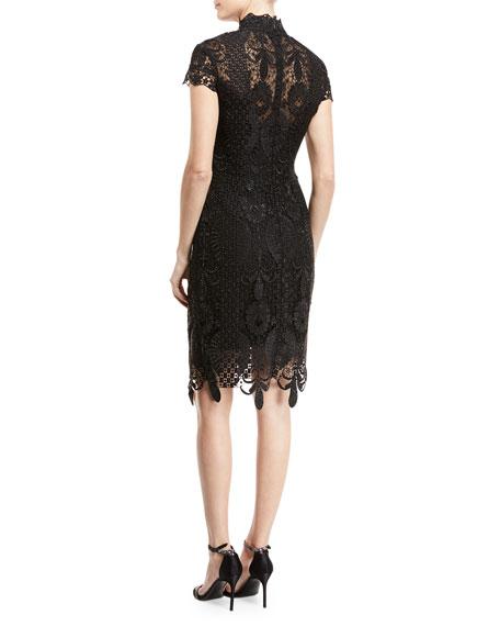 Embellished Lace Sheath Dress
