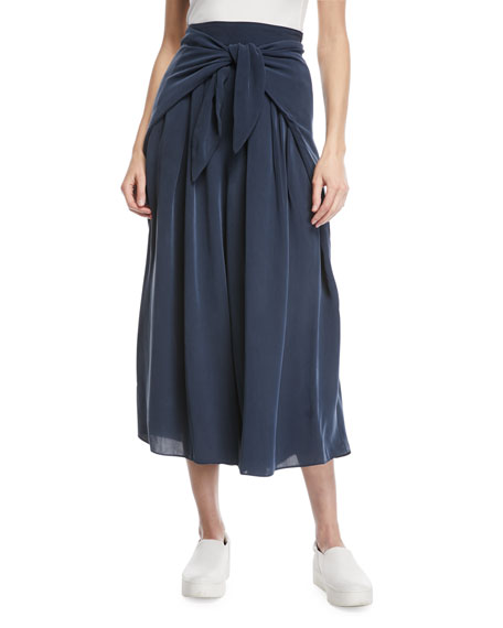 Milly Cropped Pants with Sarong Waist Detail