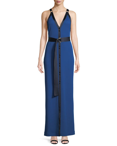 Diane von Furstenberg Sleeveless Ribbed Jersey Maxi Dress