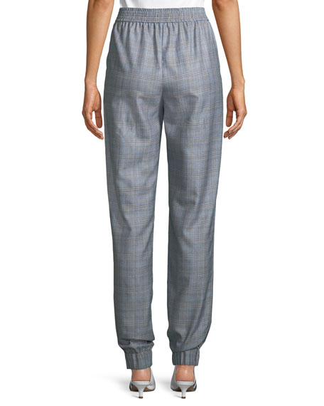 Cooper Check Menswear Pull-On Jogger Pants