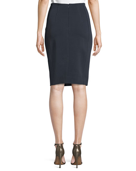 High-Waist Fitted Pencil Skirt
