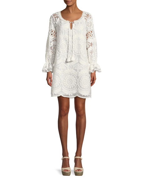 Kobi Halperin Brie Embroidered Silk Shift Dress